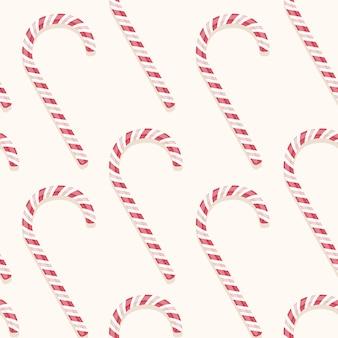 Zoete vakantie vector candy cane naadloze patroon
