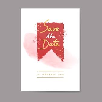 Zoete valentijnskaartkaart en typografieontwerp