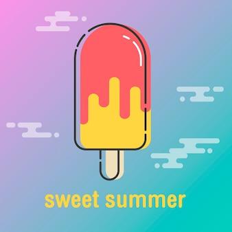 Zoete zomer achtergrond