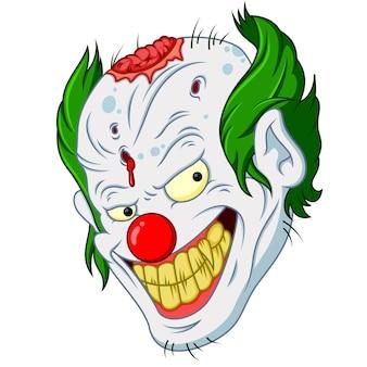 Zombie clown hoofd