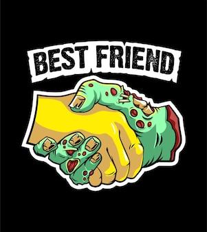 Zombie en mensen zijn vrienden