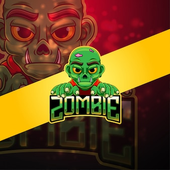 Zombie esport mascotte logo