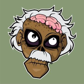Zombie head - genius physicist
