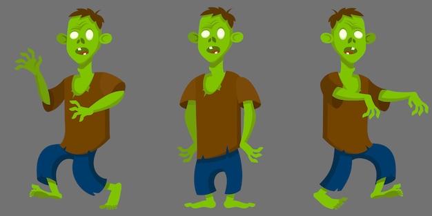 Zombie in verschillende poses.