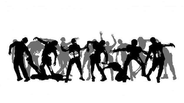 Zombie menigte