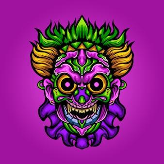Zombie monster entertainers illustratie