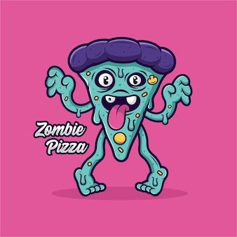 Zombie pizza ontwerp illustratie