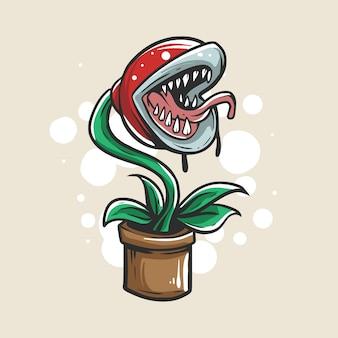Zombie plant illustratie