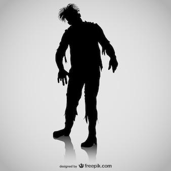 Zombie vector gratis silhouet