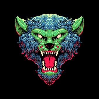 Zombie wolf hoofd