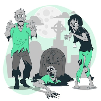 Zombies concept illustratie