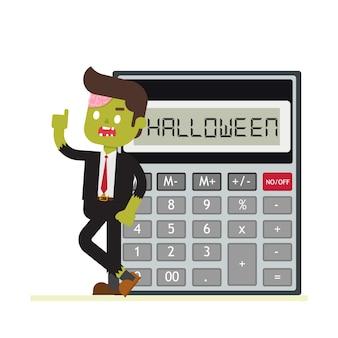 Zombiezakenman voor halloween