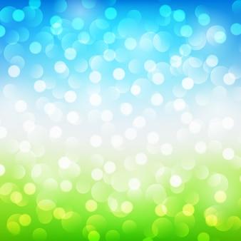 Zomer abstracte achtergrond met bokeh. vector illustratie