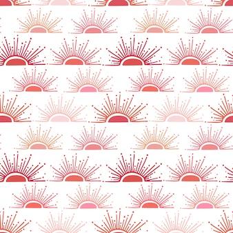 Zomer achtergrond in rode en roze kleuren