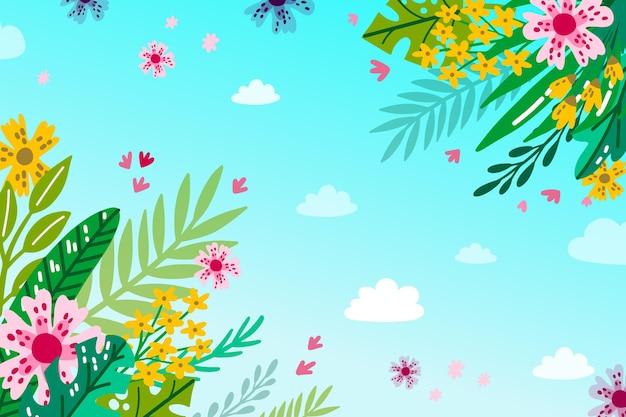 Zomer achtergrond met bloemen