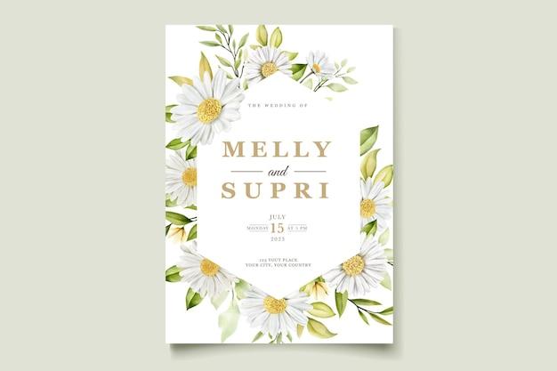 Zomer aquarel chrysant bloem kaartenset
