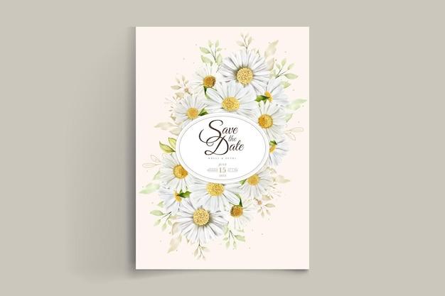 Zomer aquarel chrysant bloemplaat