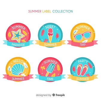 Zomer badge collectie