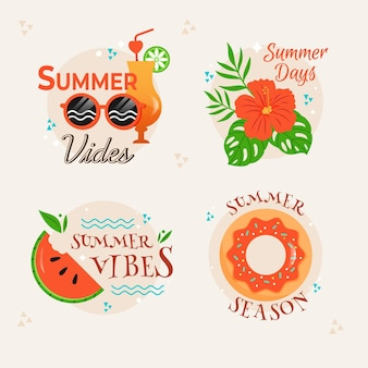 Zomer badges collectie