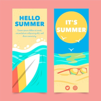 Zomer banners sjabloon