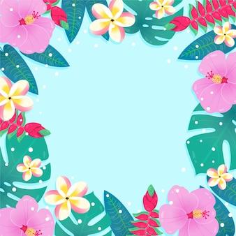 Zomer behang met bloemen