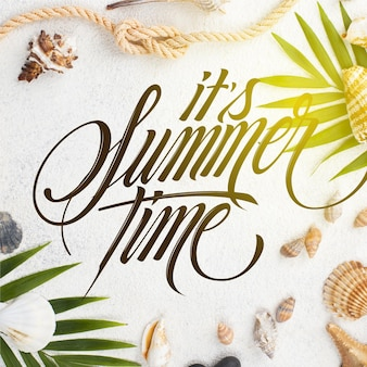Zomer belettering achtergrond concept