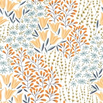 Zomer bloemen naadloze patroon