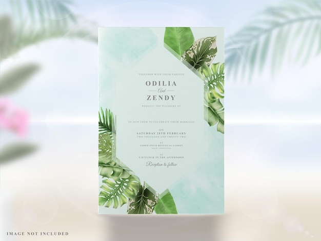 Zomer bruiloft uitnodigingen kaarten set