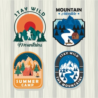 Zomer camping badges