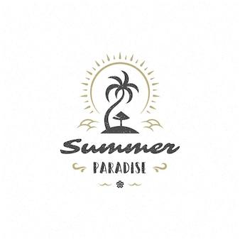 Zomer citaat of zomerlogo