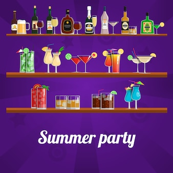 Zomer cocktail party concept