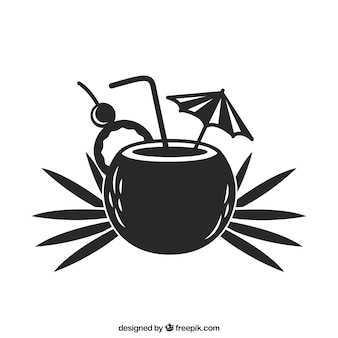 Zomer cocktail pictogram