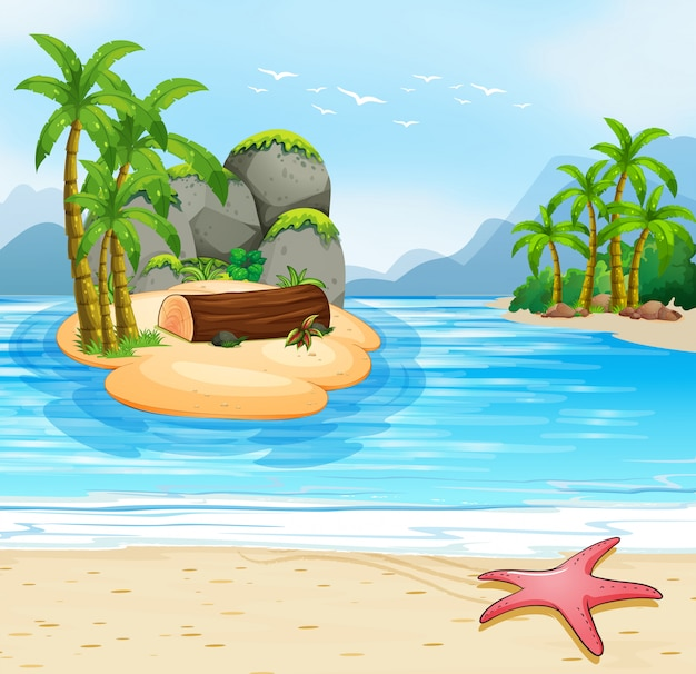 Zomer eiland strand scene