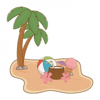 Zomer- en strandeiland