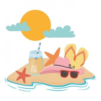 Zomer- en vakantie-elementen