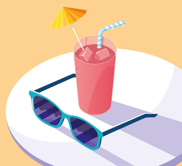 Zomer en vakantie pictogramserie