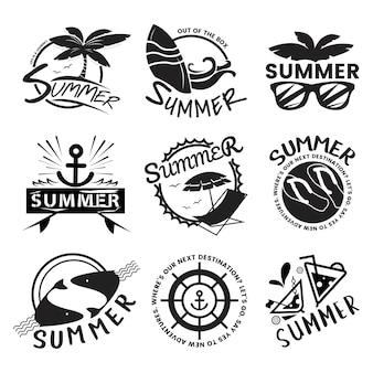 Zomer en vakantie typografie illustratie