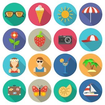 Zomer en vakanties pictogrammen instellen