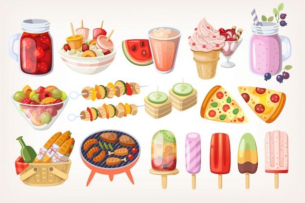 Zomer eten en desserts