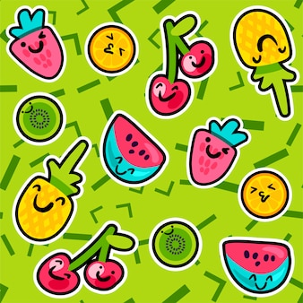 Zomer fruitpatronen