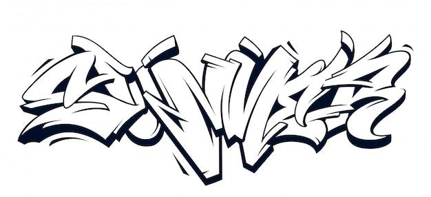 Zomer graffiti belettering