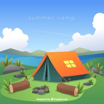 Zomer kamp achtergrond