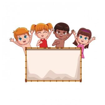 Zomer kinderen cartoon