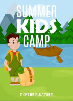 Zomer kinderen kamp banner