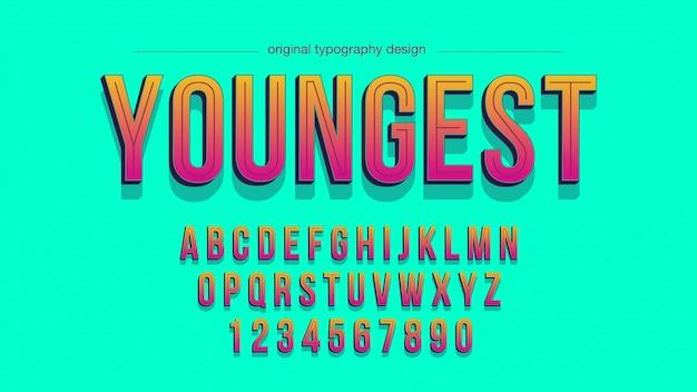 Zomer kleurrijke vet artistieke lettertype