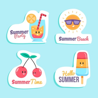 Zomer label collectie concept