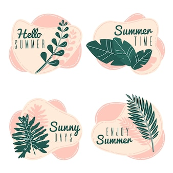 Zomer label pack ontwerp