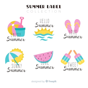 Zomer labelcollectie