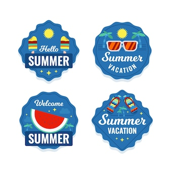 Zomer labels collectie concept