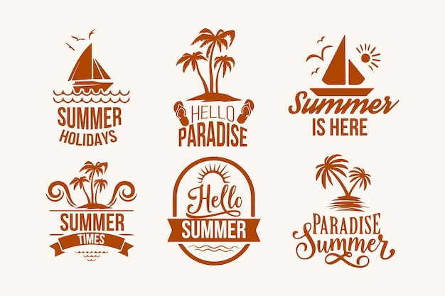 Zomer labels-collectie